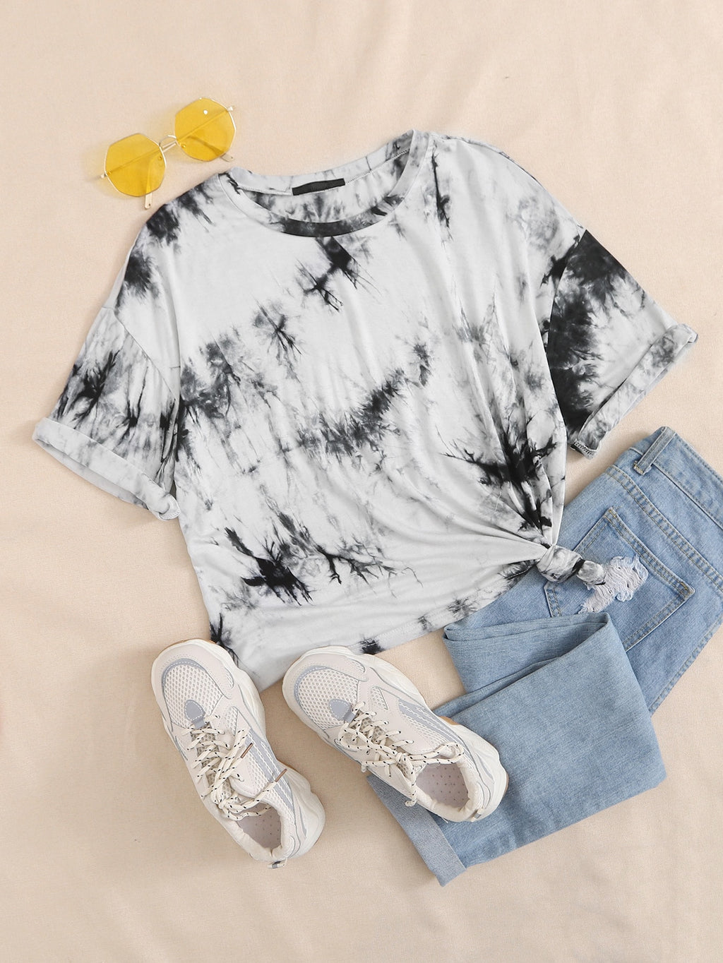 Tie Dye Drop Shoulder Tee