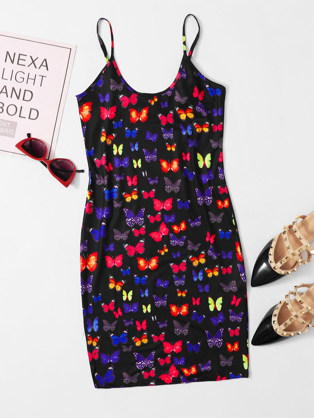 Floral Print Bodycon Dress FD