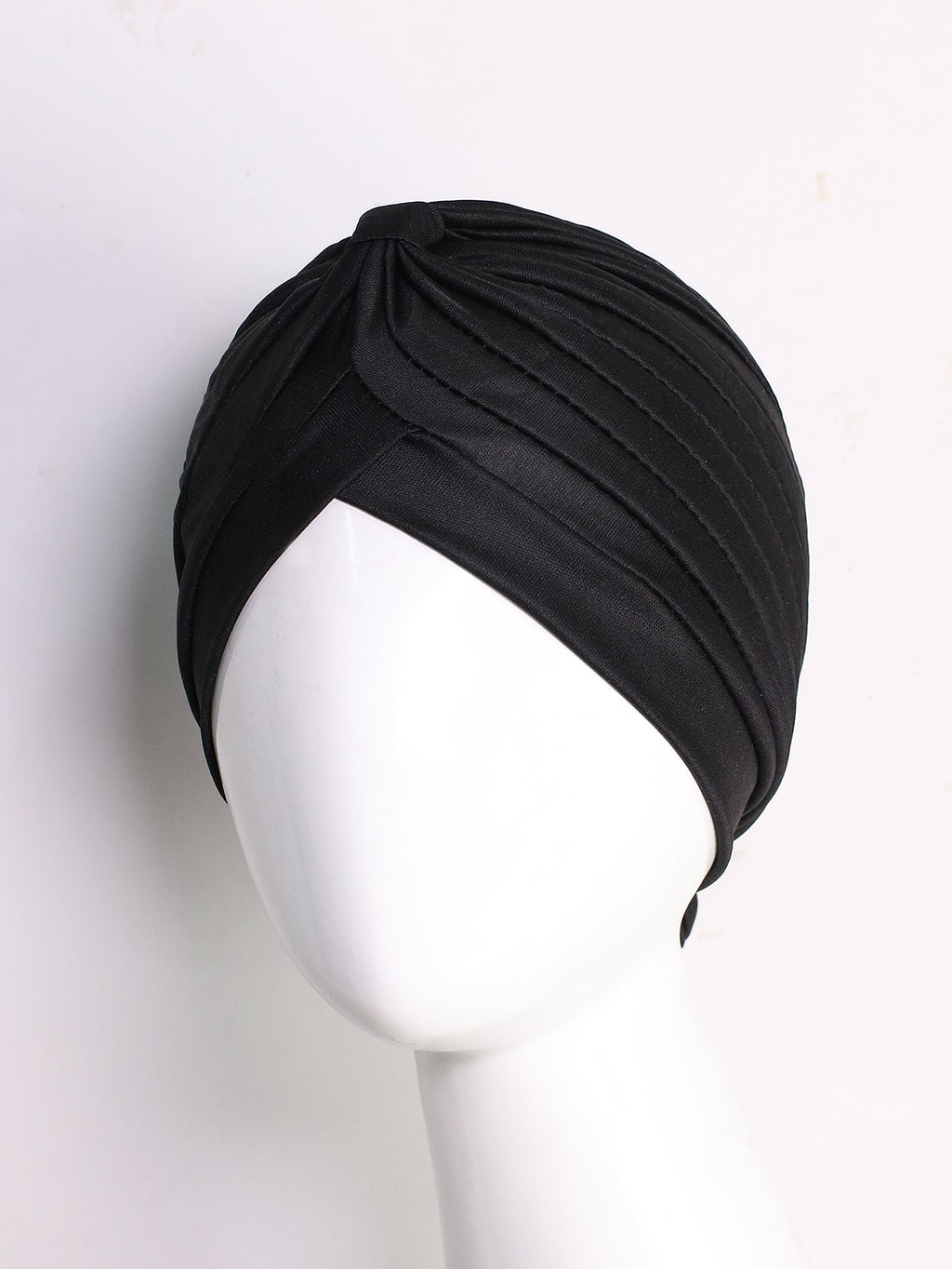 Solid Layered Turban Hat