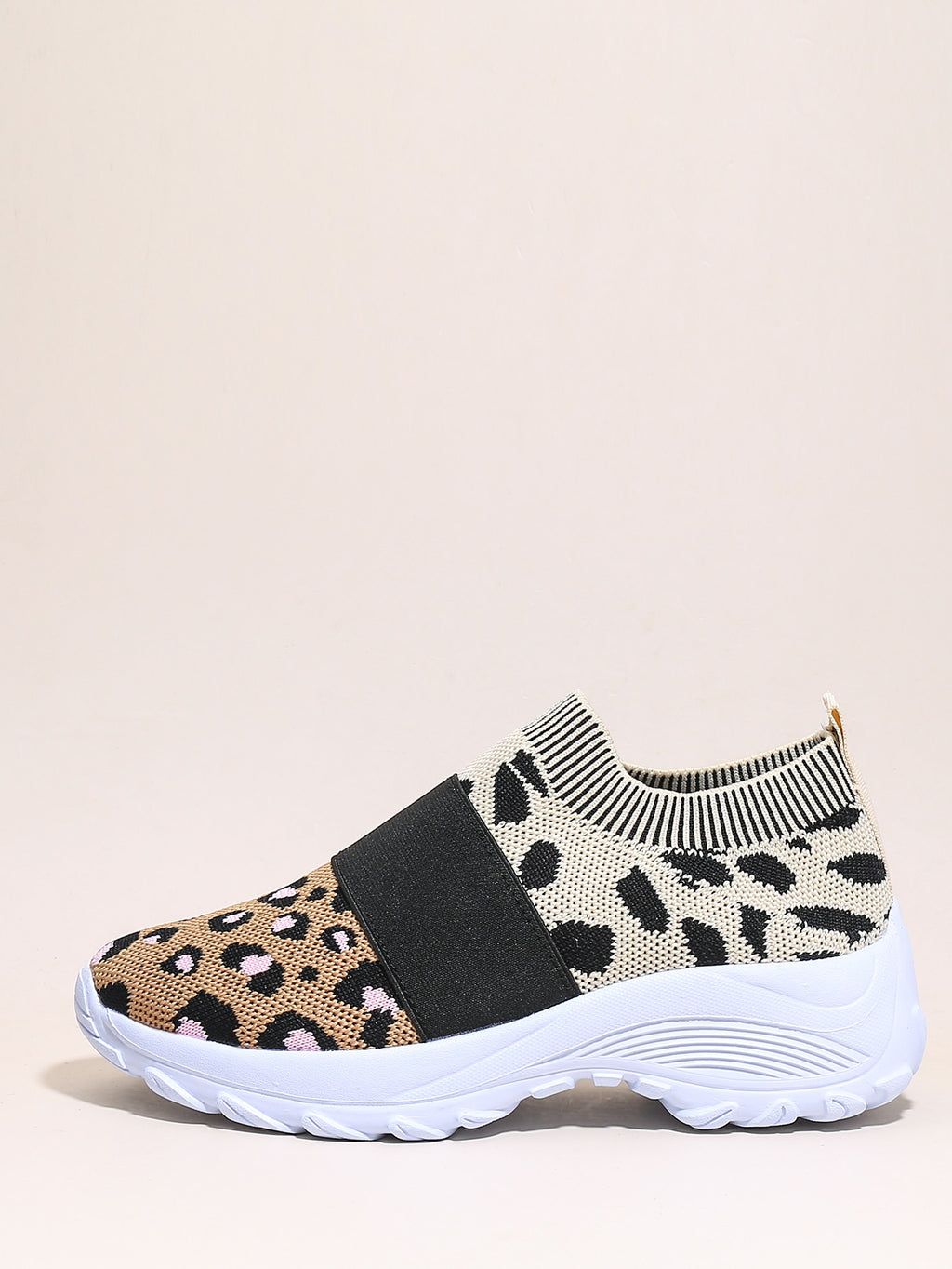 Leopard Graphic Wide Fit Sneakers