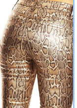 Load image into Gallery viewer, Snakeskin faux leather pants