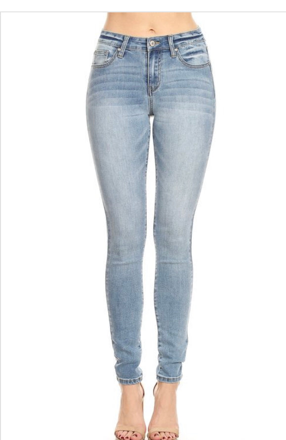 Light blue Mid rise skinny jeans