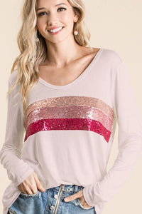 sequin color block