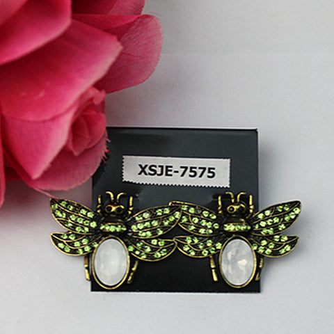 New Retro jewelry lady lovely vivid (bee) fashion jewelry Bohemian woman birthday party earrings
