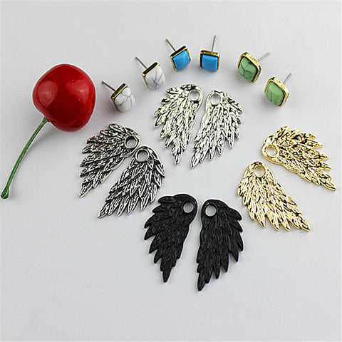 Trendy women fashion jewelry wholesale factory girls birthday party disassembling wings type stud earrings earrings