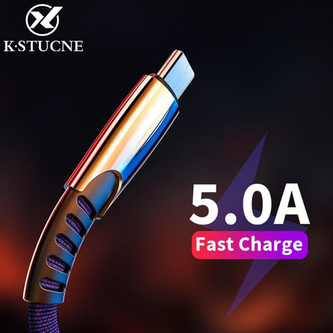 New Braided Nylon Quick Charge USB C Type C Cable for Huawei P10 P20 Lite Pro 5A Fast Charge Cable for samsung galaxy s9 s8 plus