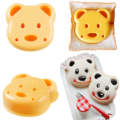 Little Bear Shape Sandwich Mold Bread Biscuits Embossed Device Cake Mold Maker DIY Cutter