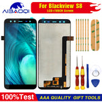 100% Original Blackview S8 LCD Display + Touch Screen Assembly For Blackview S8 Tools+3M Adhesive