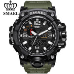 Men Sports Watches Dual Display Analog Digital LED Electronic Quartz Wristwatches Waterproof Swimming Military Watch