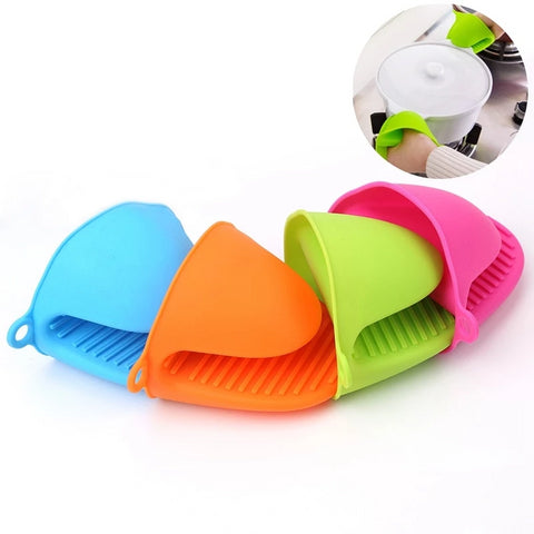 1Pc Silicone Heat Resistant Gloves Clips Insulation Non Stick Anti-slip Pot Bowel Holder Clip Cooking Baking Oven Mitts