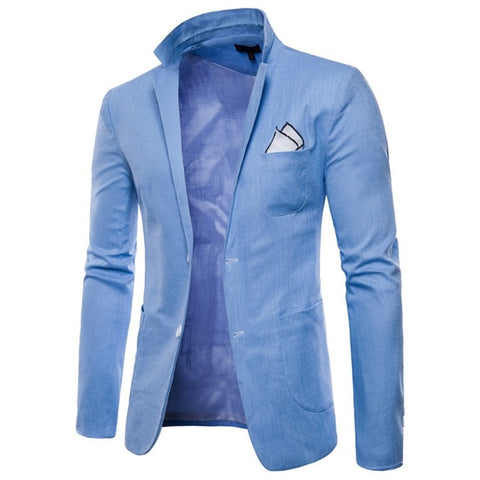 New Hot Sale Brand Clothing Suit Men Blazer Fashion Solid Color Cotton Slim Fit