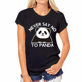 T shirt Women Funny Tops Short Sleeve Panda Print