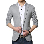 New Men Blazer Fashion Luxury Woolen Blends Patchwork Slim Suit Jackets Business Suit
