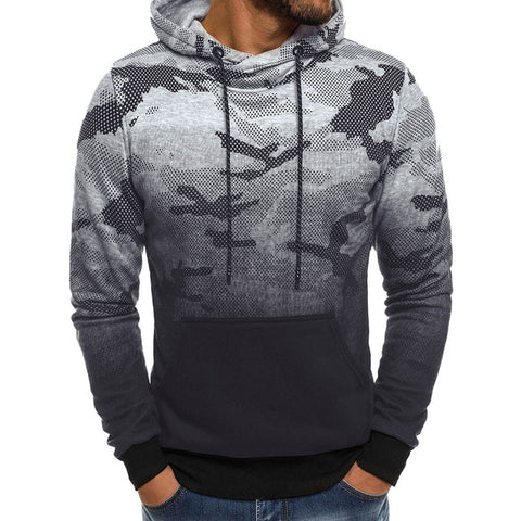 Sweatshirt Men's Long Sleeve Camouflage Style Hoodie Pullover Top Blouse Military