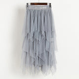 Skirts Womens Fashion Elastic High Waist Mesh Tutu