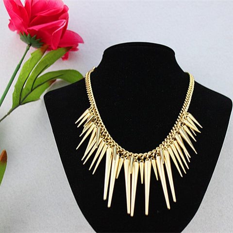 The European and American fashion. Tassel cone. Pop. Romantic. Party. Movement. Girl wholesale gold necklace!!!!!