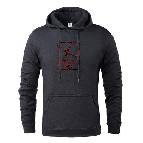 Men's New Jordan Printing Wild High Quality Large Size Men Hoodie Fashion Brand High Street Casual Long Sleeves Mens Hoodies
