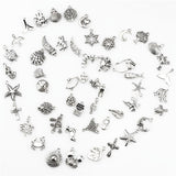Mix Charms 120pcs/lot Vintage Silver Mini Life Thing Pendant DIY Jewelry