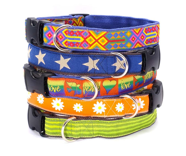decorative hemp adjustable collars
