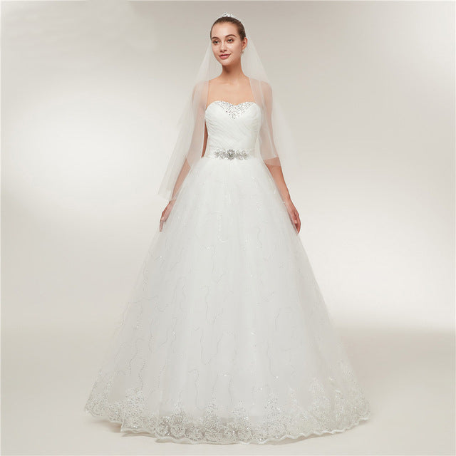 Vintage Lace Ball Gown Wedding Dress – Miss 2 Missis