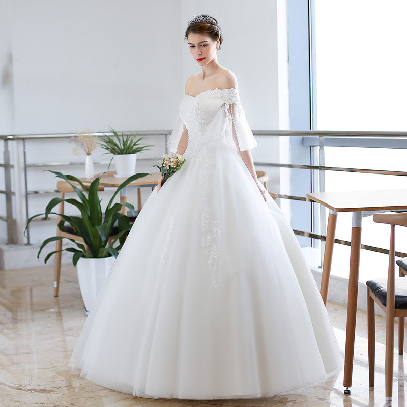 Unique Sleeve Design Ball Gown Wedding Dress – Miss 2 Missis
