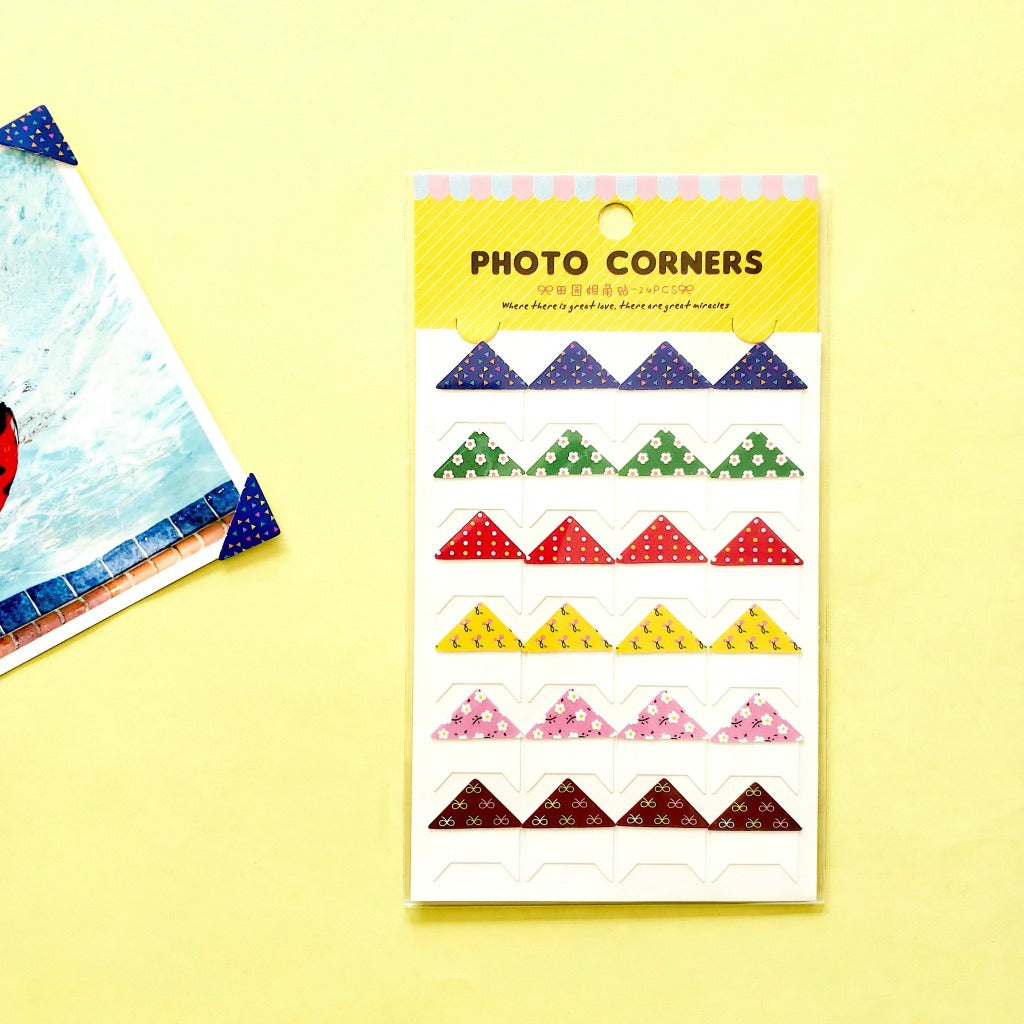 Patterned Self-Adhesive Photo Corners