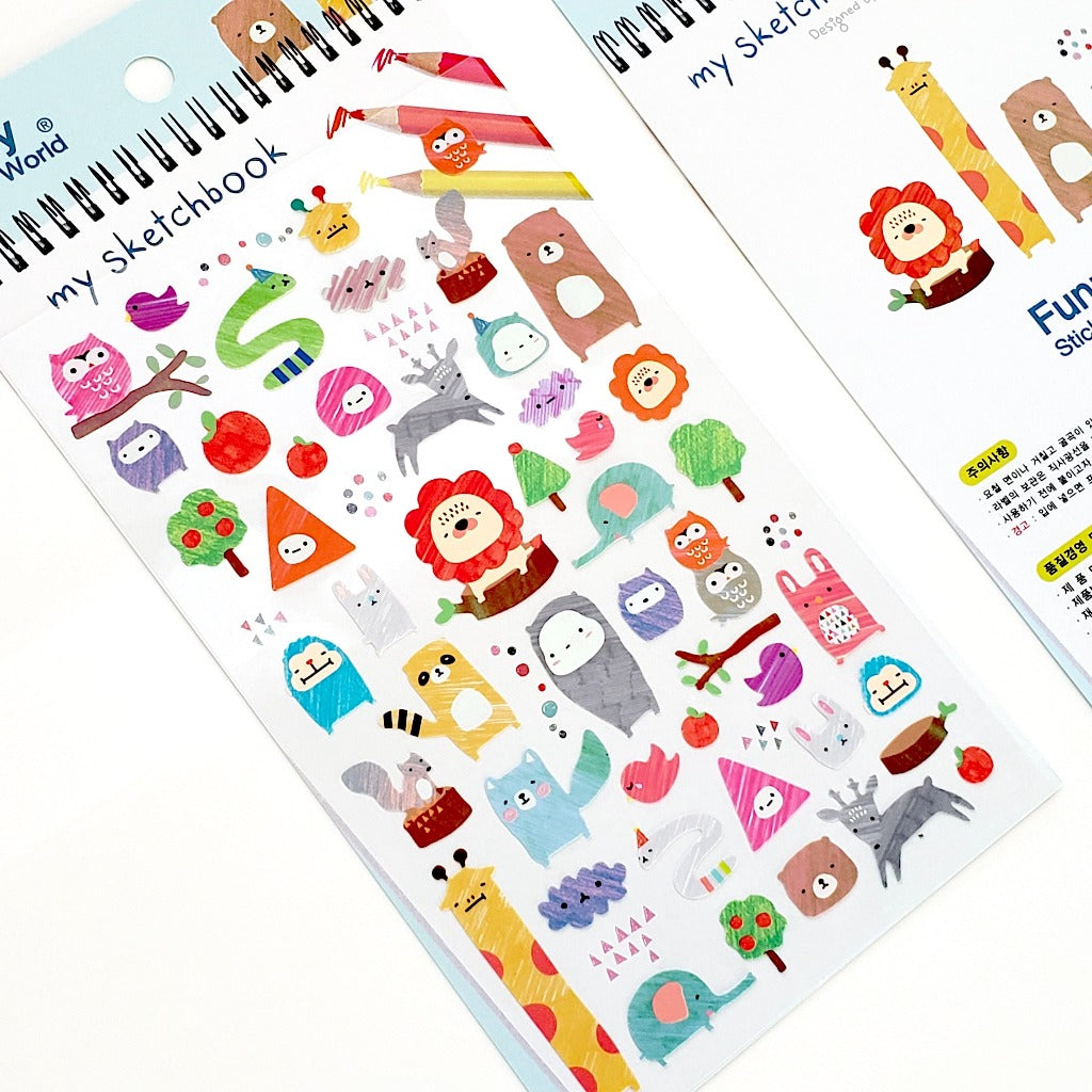 Cute Korean Stickers Funny Sticker World My Sketchbook