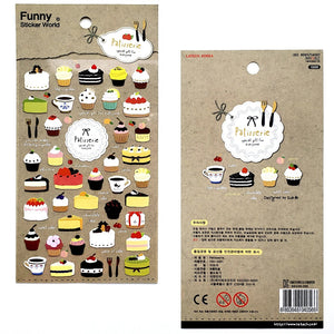 full view Funny Sticker World Patisserie (Coffee & Sweets) Stickers
