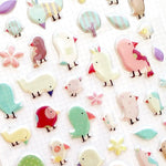 Cute Korean Stickers | Funny Sticker World: A Little Bird Puffy Stickers