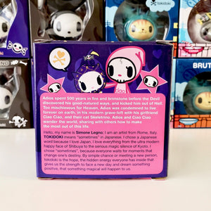 tokidoki collectible til death do us part skeletrina (package back view)
