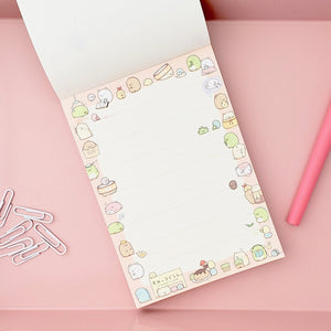 Kawaii Japanese Stationery Sumikko Gurashi Notepad Orange Cover Pages