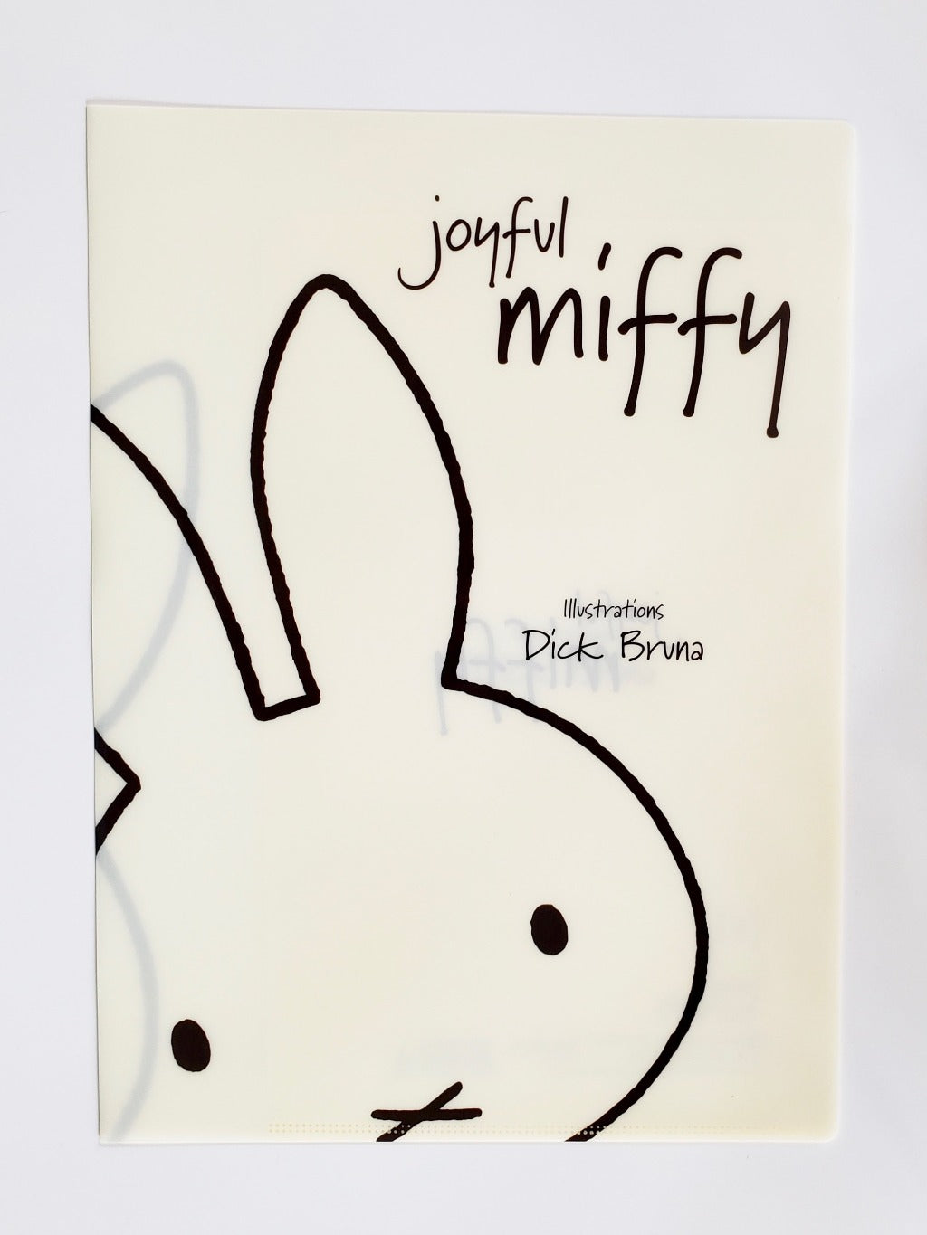miffy vinyl folder cream front view