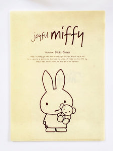 miffy 2 pocket plastic foler front view