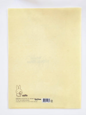 miffy 2 pocket plastic folder back view