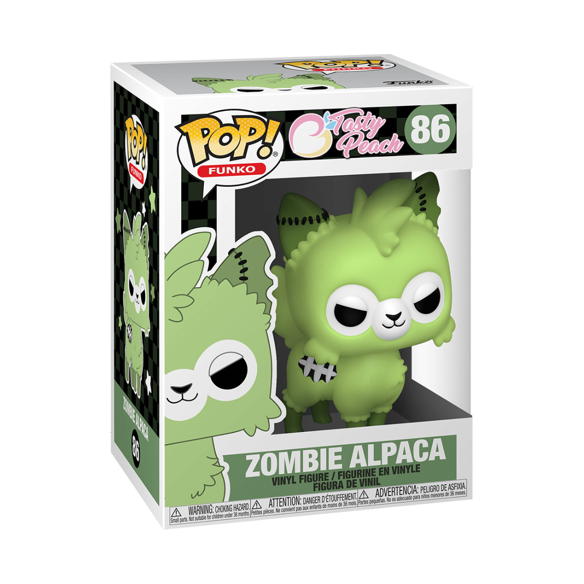Funko Pop Tasty Peach Zombie Alpaca stock photo