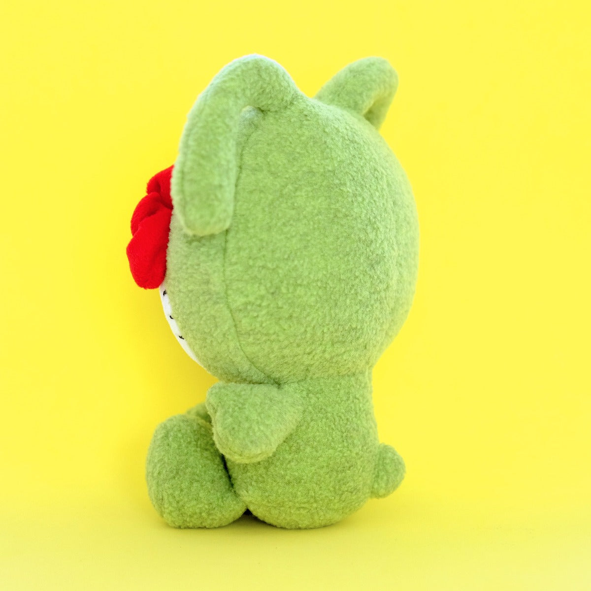 UGLYDOLL x Hello Kitty Ox Plushie (Green) (back view)