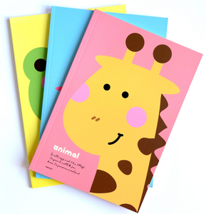 Kawaii Stationery Cute Pinkfoot Pink/Yellow Giraffe Cover Notebook