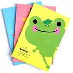 Kawaii Cute Pinkfoot Yellow/Green Frog Cover Notebook