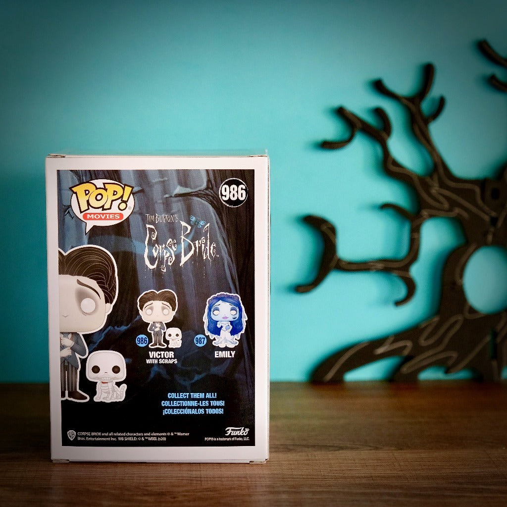 Funko POP! Corpse Bride Victor with Scraps 986 box back view
