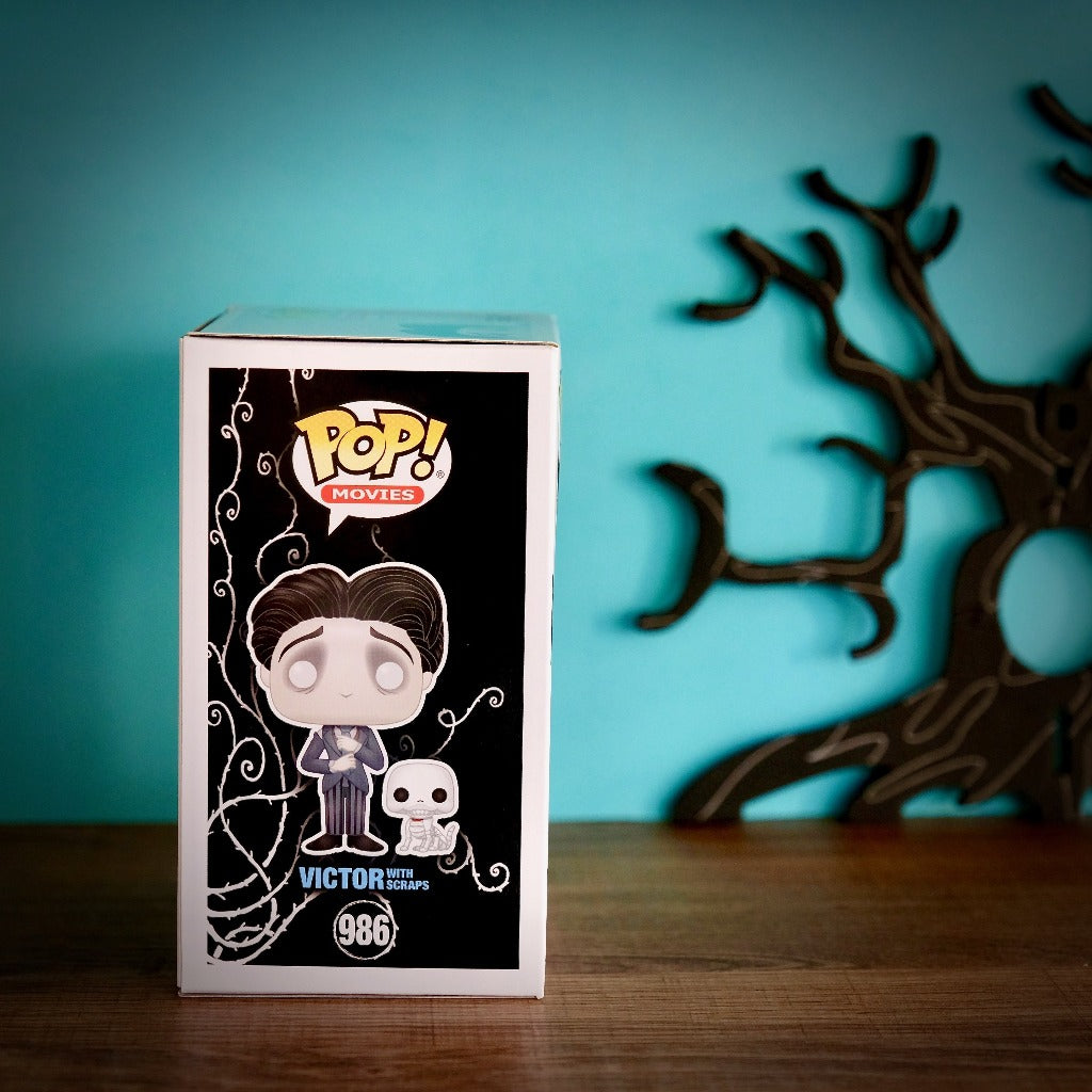 Funko POP! Corpse Bride Victor with Scraps 987 box right side