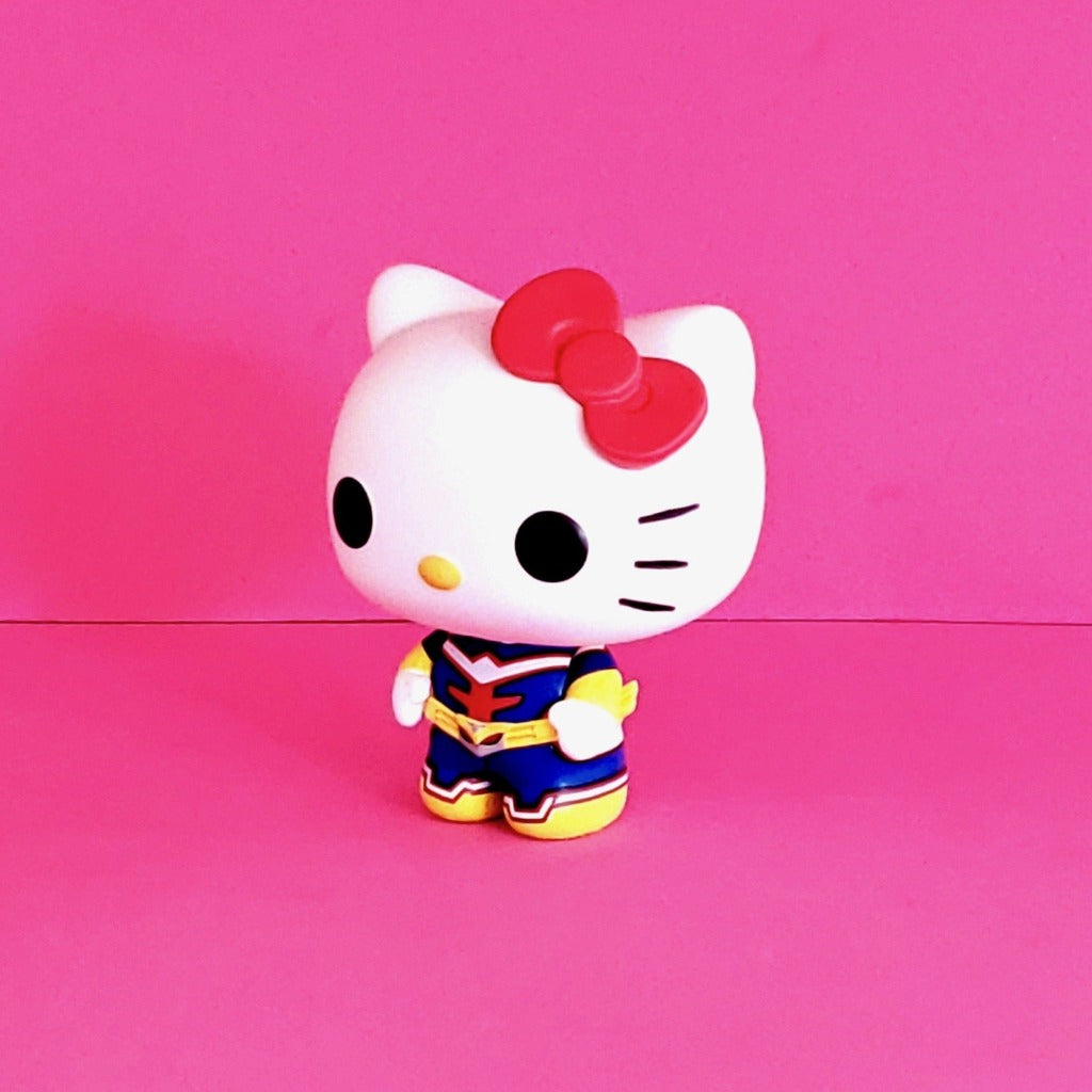 Funko POP! Sanrio Hello Kitty & Friends x My Hero Academia Hello Kitty as All Might Collectible Vinyl Figure left view