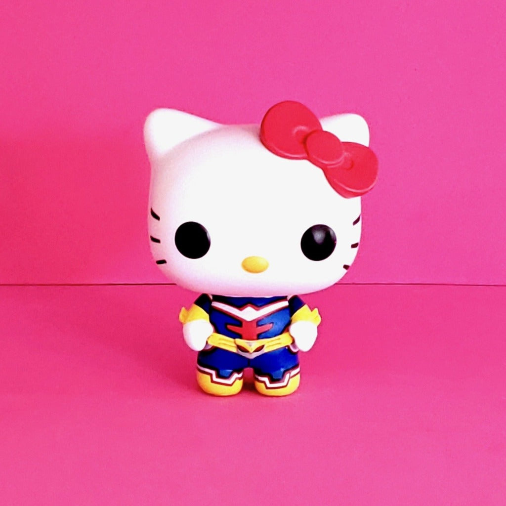 Funko POP! Sanrio Hello Kitty & Friends x My Hero Academia Hello Kitty as All Might Collectible Vinyl Figure front view