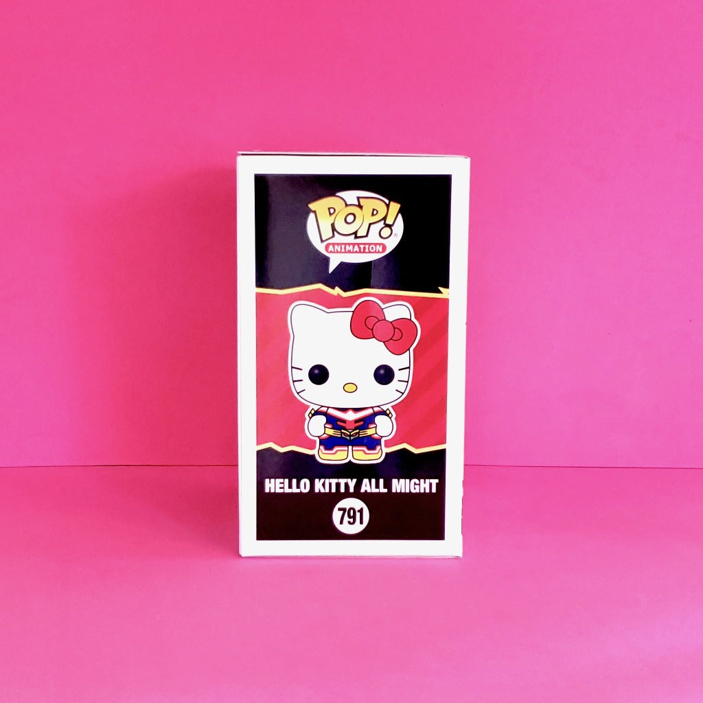 Funko POP! Sanrio Hello Kitty & Friends x My Hero Academia Hello Kitty as All Might Collectible Vinyl Figure product package right view