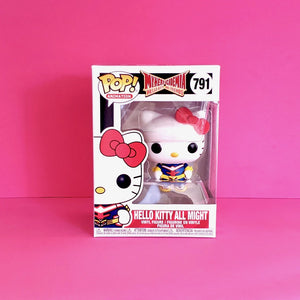 Funko POP! Sanrio Hello Kitty & Friends x My Hero Academia Hello Kitty as All Might Collectible Vinyl Figure product package front view