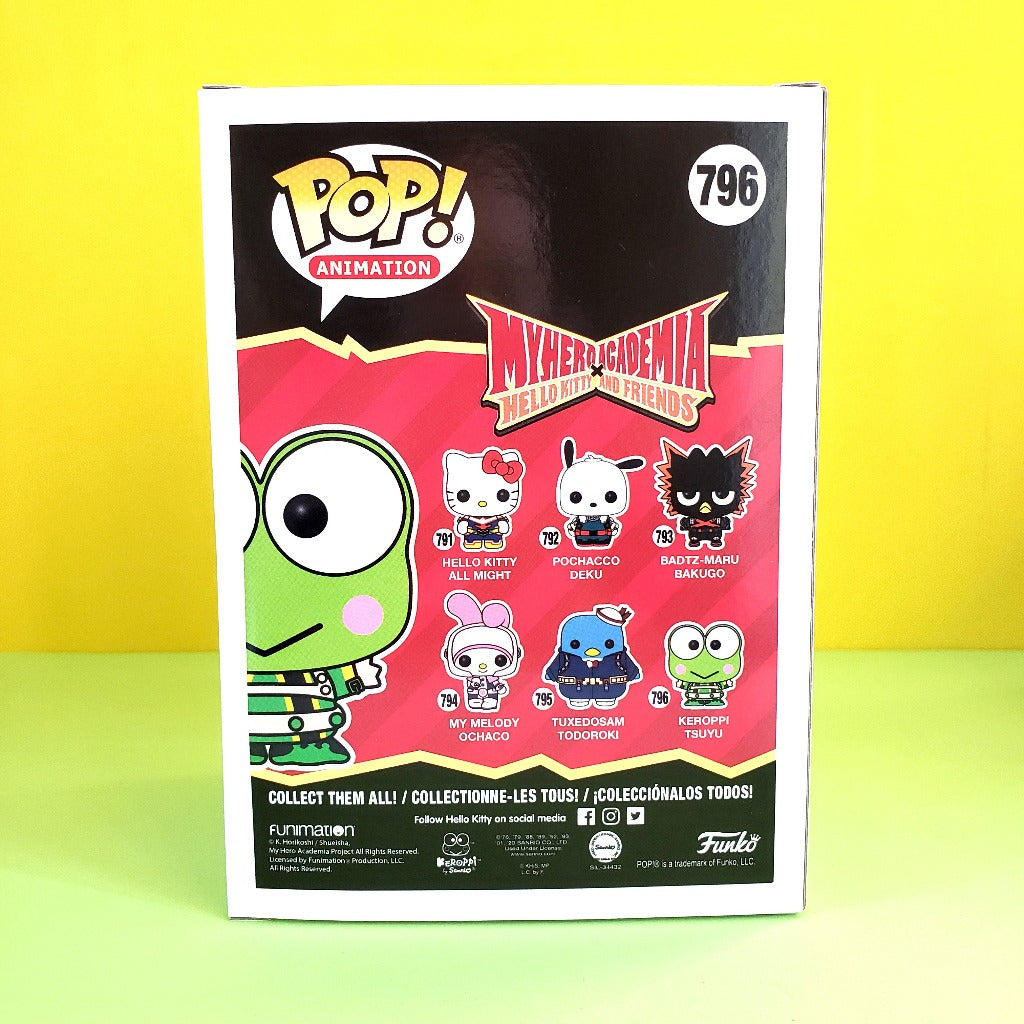 Funko POP! My Hero Academia Keroppi Tsuyu box back view