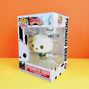 Funko POP! My Hero Academia Pochacco Deku front-left view of stock box