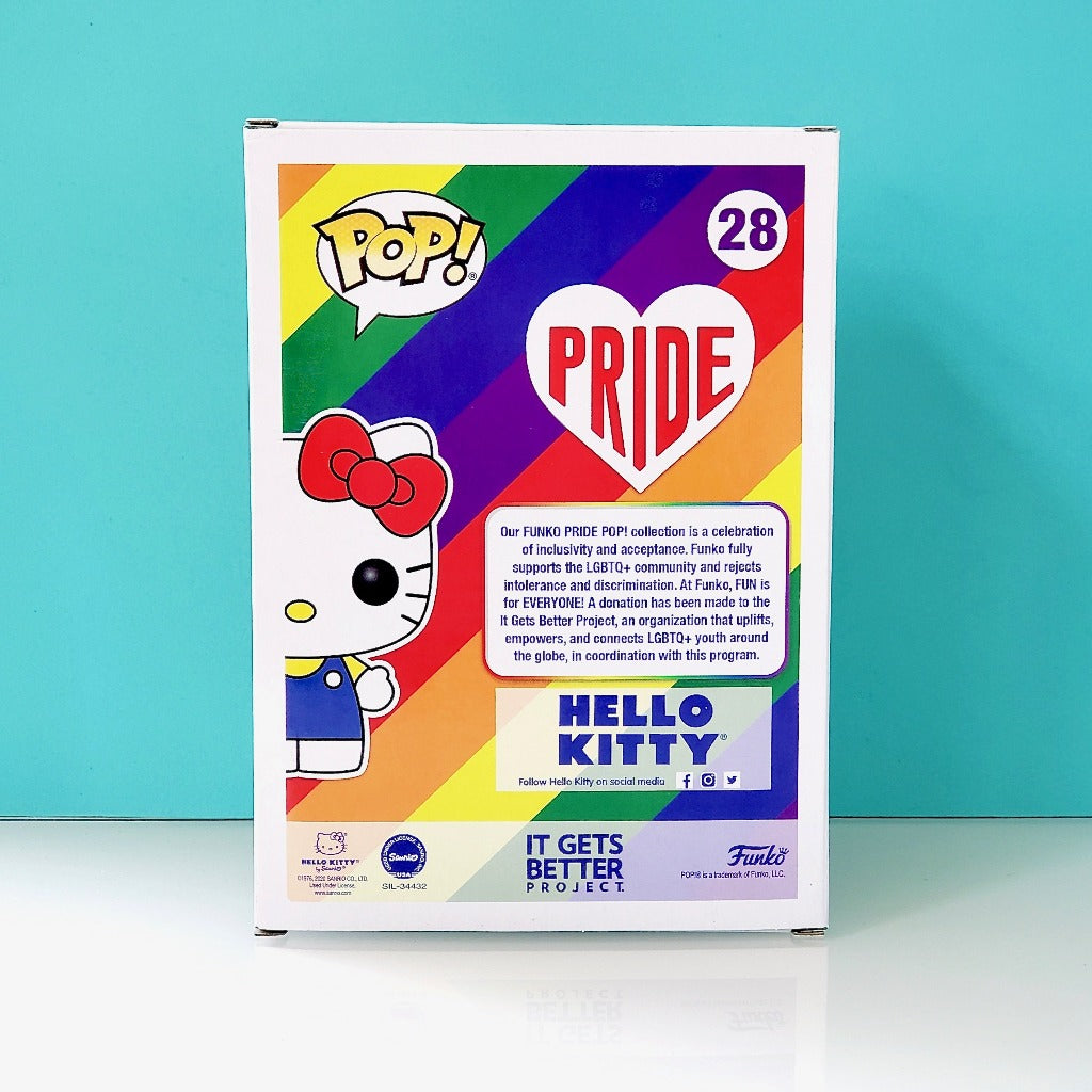 Funko Pride POP! Hello Kitty 28 box back view