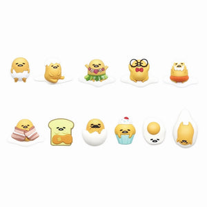 Gudetama the Lazy Egg figural bag clip 11 poses