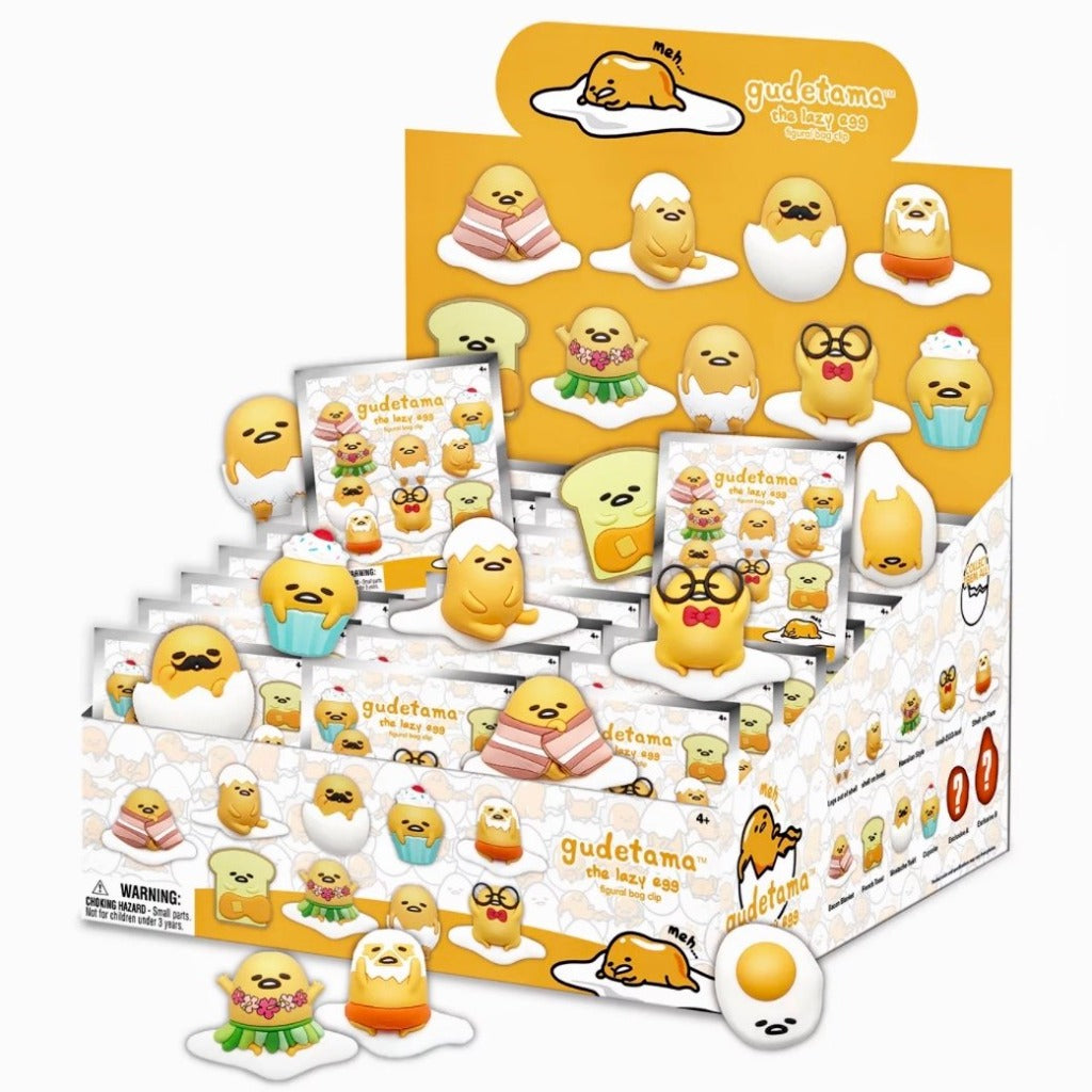 Gudetama the Lazy Egg view of blind bag display box