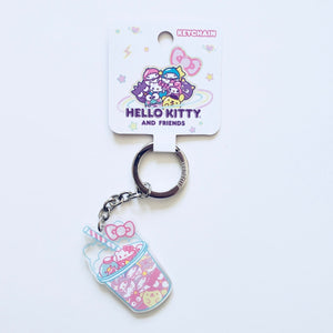 Loungefly Hello Kitty & Friends slush bubble drink acrylic keychain front